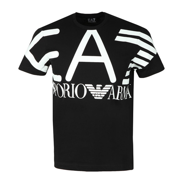 EA7 Emporio Armani Mens Black Cotton Jersey T-Shirt main image