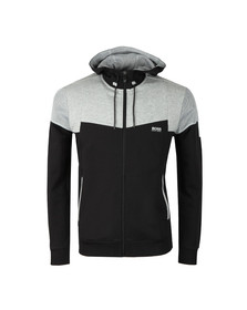 BOSS Green Mens Black Saggy 1 Colour Block Hoodie