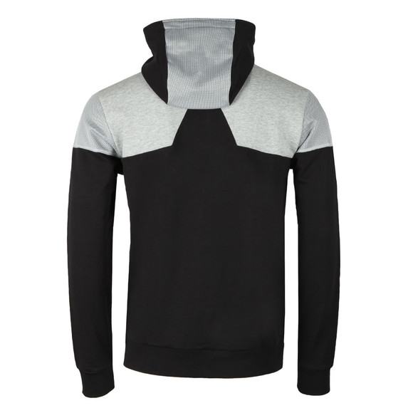 BOSS Green Mens Black Saggy 1 Colour Block Hoodie main image