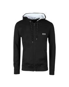Boss Mens Black Contemp Hooded Loungewear Hoodie