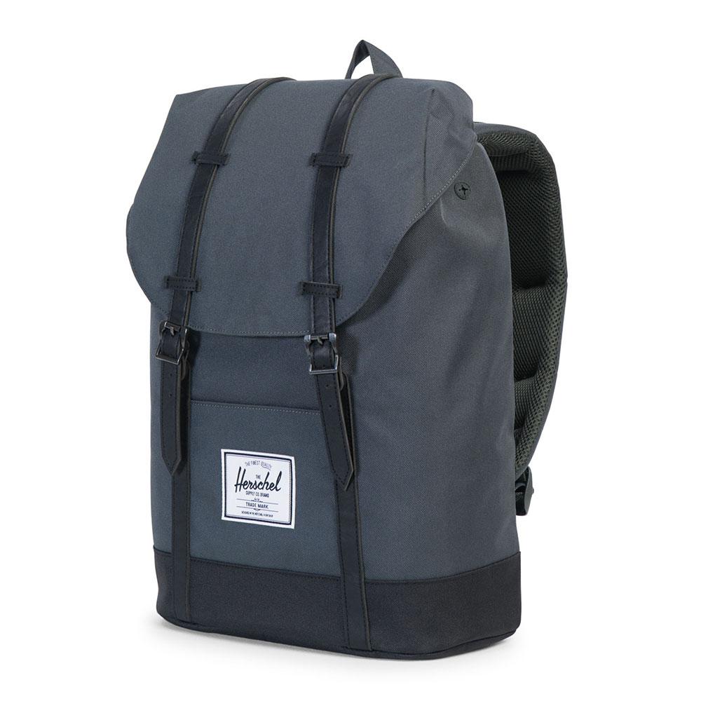 ... Herschel Mens Grey Retreat Backpack main image ... ad8fbc9444203