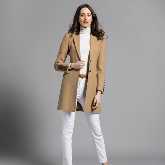 Holland Cooper Womens Brown Kempton Coat main image