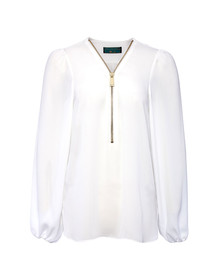 Holland Cooper Womens Off-white Zip Shirt