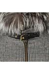 Holland Cooper Womens Grey Zip Collar Tweed & Fur Cape