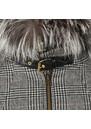Zip Collar Tweed & Fur Cape additional image