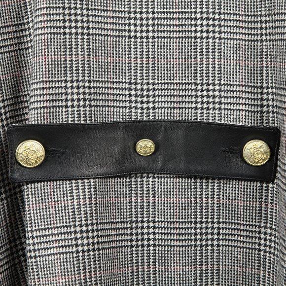 Holland Cooper Womens Grey Zip Collar Tweed & Fur Cape main image