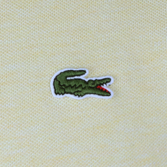Lacoste Mens Yellow S/S L1264 Plain Polo main image