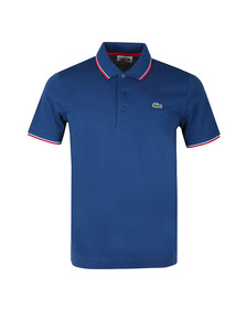 Lacoste Sport Mens Blue  YH7900 Tipped Polo Shirt