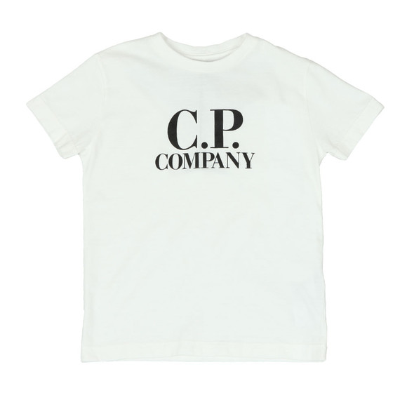 C.P. Company Undersixteen Boys Off-White Printed Goggle T-Shirt