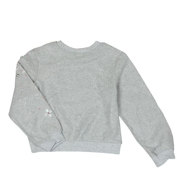 Billieblush Girls Silver U15507 Sweatshirt main image