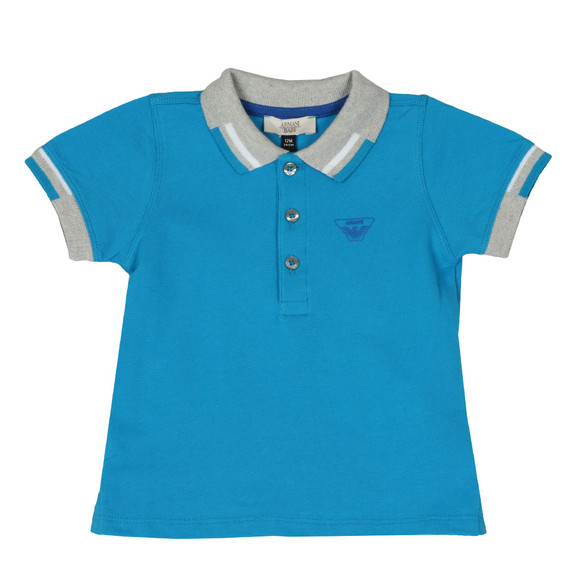 Armani Baby Boys Blue 3ZHF01 Polo Shirt main image