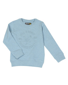 Lyle And Scott Junior Boys Blue Heatseal Sweatshirt