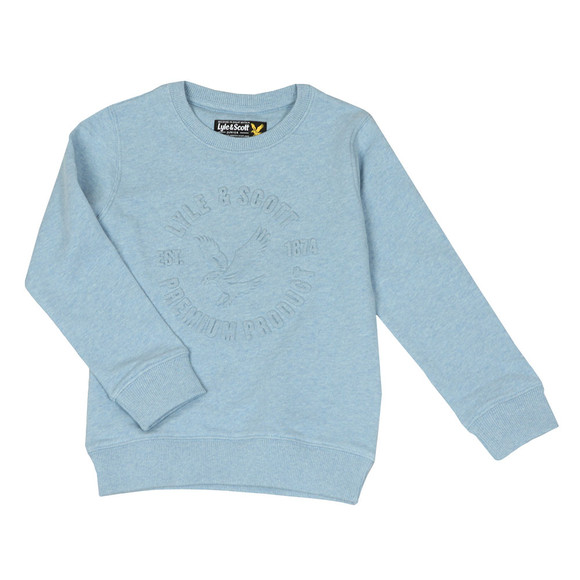 Lyle And Scott Junior Boys Blue Heatseal Sweatshirt main image