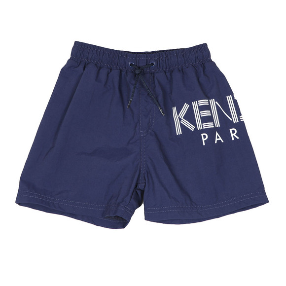 Kenzo Kids Boys Blue Large Logo Swim Shorts