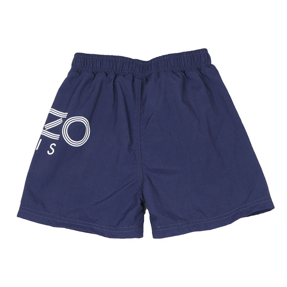 Kenzo Kids Boys Blue Large Logo Swim Shorts main image