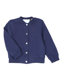 Kenzo Kids Girls Blue Reversible Bomber Sweat