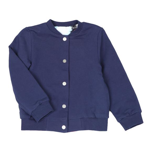 Kenzo Kids Girls Blue Reversible Bomber Sweat