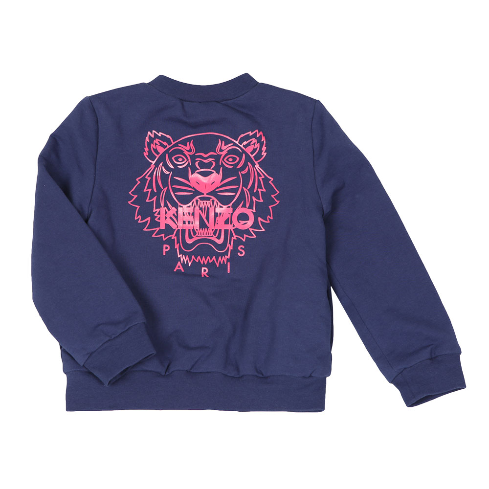 af92c360819 Kenzo Kids Girls Blue Reversible Bomber Sweat