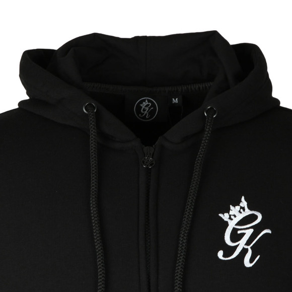 Gym King Mens Black Full Zip Hooded Sweat main image