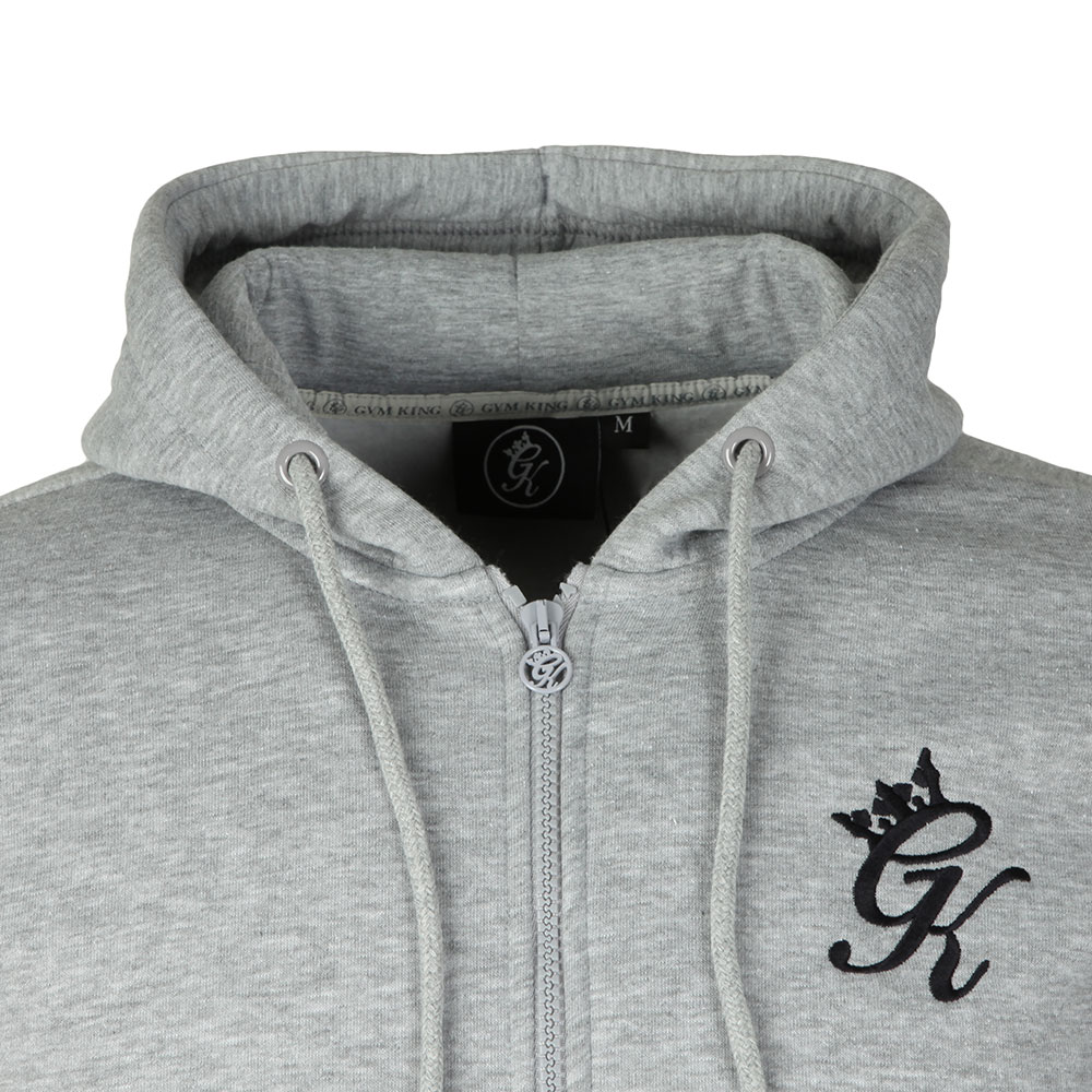 Full Zip Asymetric Panel Hoodie main image