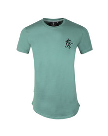 Gym King Mens Green S/S Long Line Tee
