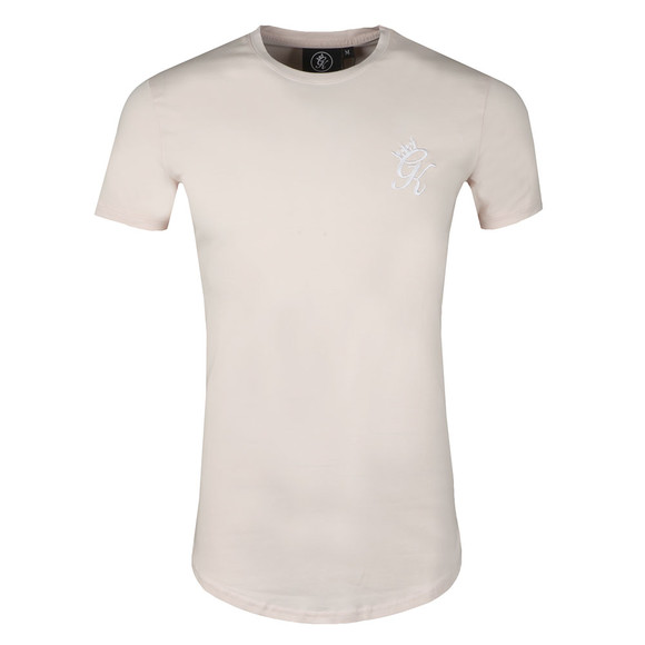 Gym King Mens Beige S/S Long Line Tee main image