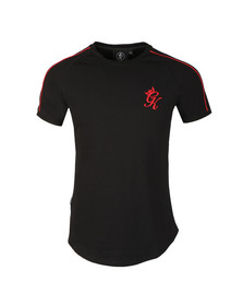 Gym king Mens Black S/S Piped Tee