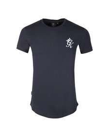Gym king Mens Blue S/S Long Line Tee