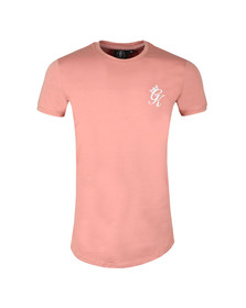 Gym King Mens Red S/S Long Line Tee