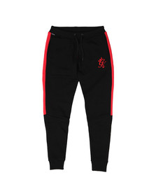 Gym king Mens Black Stripe Fleece Pant
