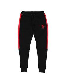 Gym King Mens Black Stripe Fleece Pant
