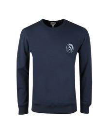 Diesel Mens Blue Willy Crew Sweatshirt
