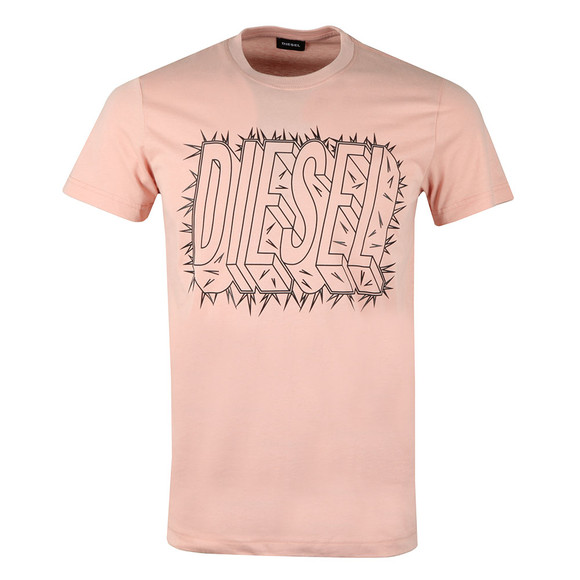 Diesel Mens Pink Diego Sl T Shirt main image