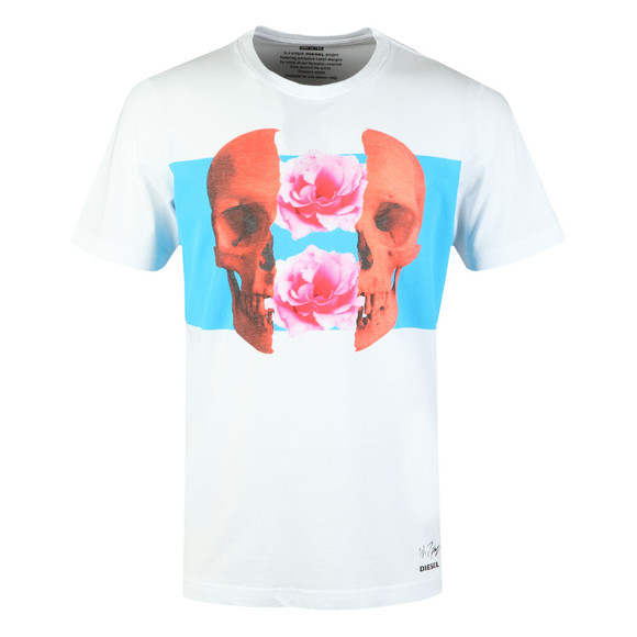 Diesel Mens White Just T Shirt main image