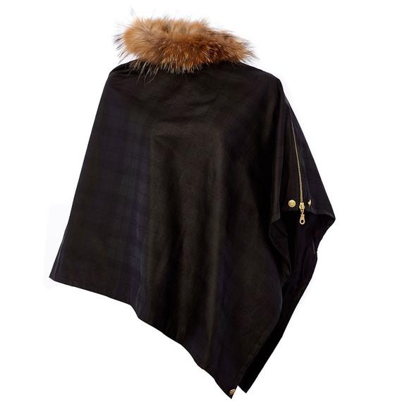 Holland Cooper Womens Black Wax & Fur Wrap main image
