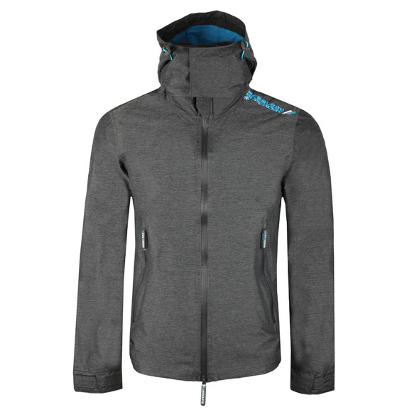 Superdry Mens Grey Hooded Technical Cliff Hiker Jacket main image