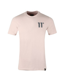 Eleven Degrees Mens Pink S/S Core Tee