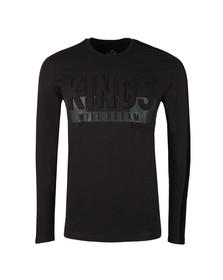 Kings Will Dream Mens Black Hanford Embossed Logo T Shirt