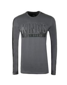 Kings Will Dream Mens Grey Hanford Embossed Logo T Shirt