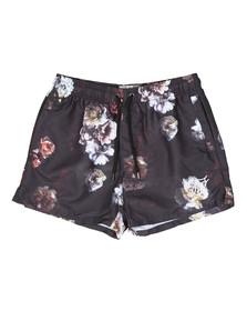 Sik Silk Mens Black Flower Swim Short