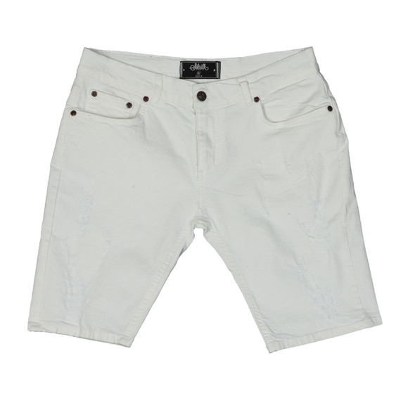 Sik Silk Mens White Distressed Skinny Short main image