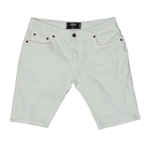 Sik Silk Mens White Distressed Skinny Short