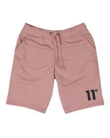 Eleven Degrees Mens Pink Core Logo Sweatshort