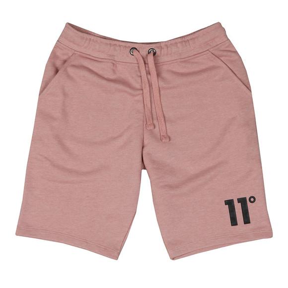 Eleven Degrees Mens Pink Core Logo Sweatshort main image