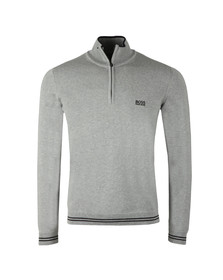Boss Green Mens Grey Zime Half Zip Jumper