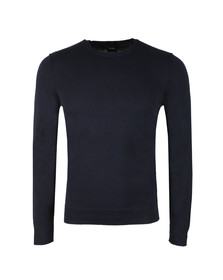 Boss Orange Mens Blue Kwasiros Crew Neck Jumper