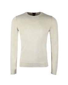 Boss Orange Mens Beige Kwasiros Crew Neck Jumper
