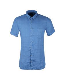 Boss Orange Mens Blue Cattitude Short Sleeve Shirt