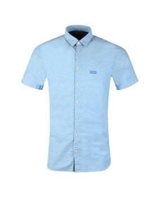 Boss Orange Mens Blue Cattitude 1 Short Sleeve Shirt