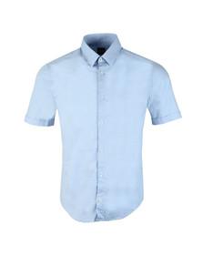 Boss Green Mens Blue Bowen_R Stretch Short Sleeve Shirt